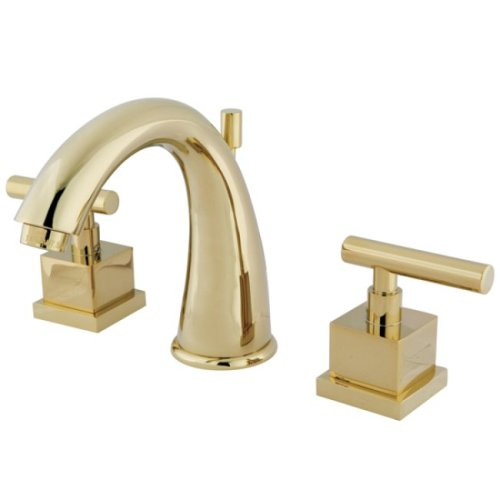 kingston-brass-ks2962cql-claremont-8-inch-widespread-lavatory-faucet-with-brass-pop-up-polished-bras