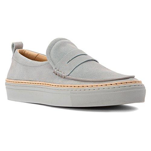 Northern Cobbler Mens Zander Loafers Shoes Grey Suede