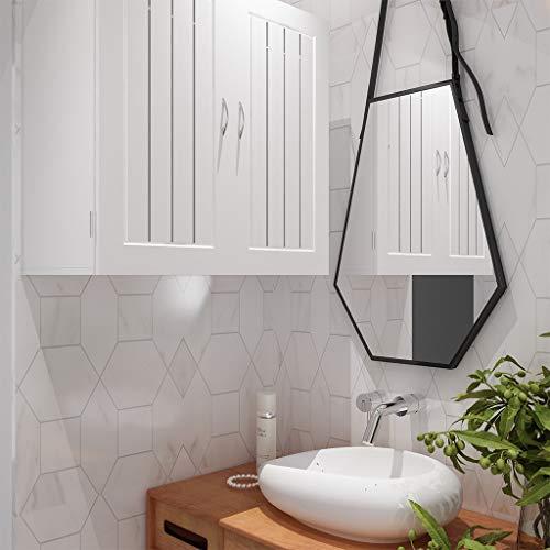 JHFUH Hanging Storage Cabinet, Household Semi-Gloss Bathroom Bedroom Kitchen Two-Door Wall Floor -