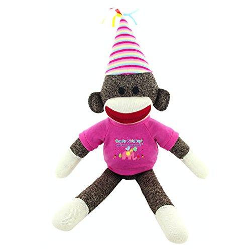 (Plushland Custom Text Sock Monkey 20