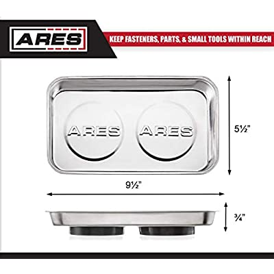 ARES 70042 - Large Magnetic Part Tray - Screws, Sockets, Bolts, Pins, and Tools Stay Vertical, Horizontal and Upside Down with Super Strong 4-Pound Magnets: Home Improvement