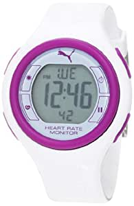 PUMA Women's PU910541010 Pulse White Digital Heart Rate Monitor Watch