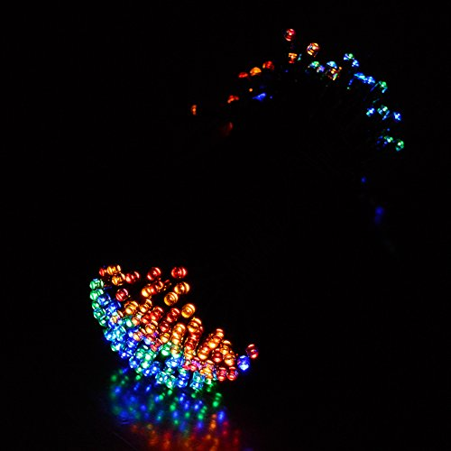 String Lights Qatar : Ucharge Solar Powered Fairy String Lights 55ft 17.5m 100 LED 2 Modes Christmas Lights for ...