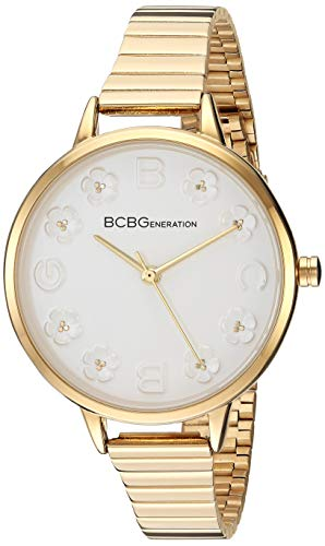 BCBGGENERATION Women's Japanese-Quartz Watch with Stainless-Steel Strap, Gold, 10.3 (Model: GN50726002)