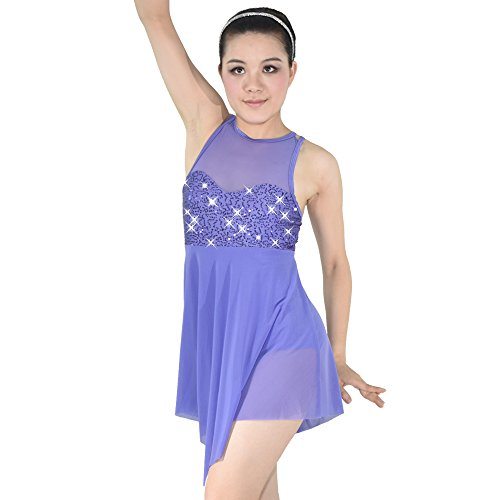 [MiDee Illusion Sweetheart Sequines Tank Top Trianglar Cut Skirt Lyrical Dress Dance Costume] (Dance Costumes Ma)