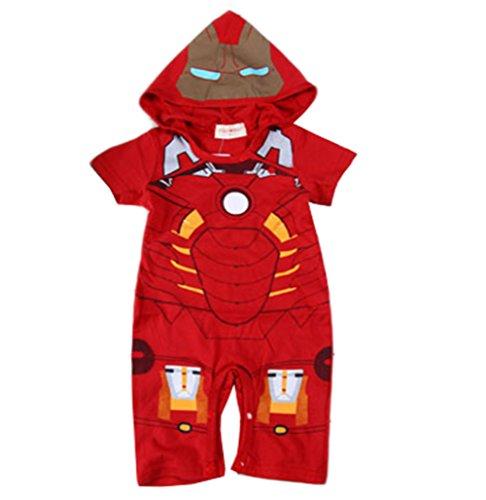 StylesILove Baby Boy Iron Man Hoodie Costume Jumpsuit (12-18 Months) (Infant Iron Man Costume)