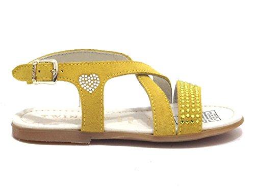 TWIN SET - Sandalias de vestir para mujer Amarillo senape