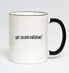11oz Black Handle Coffee Mug - got countervallation?