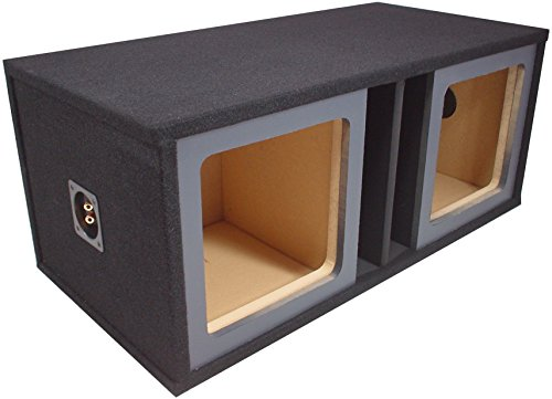 "ASC Dual 12"" Kicker Square L3 L5 L7 Subwoofer Paintable Baffle Slot Vented Port Sub Box Speaker Enclosure"