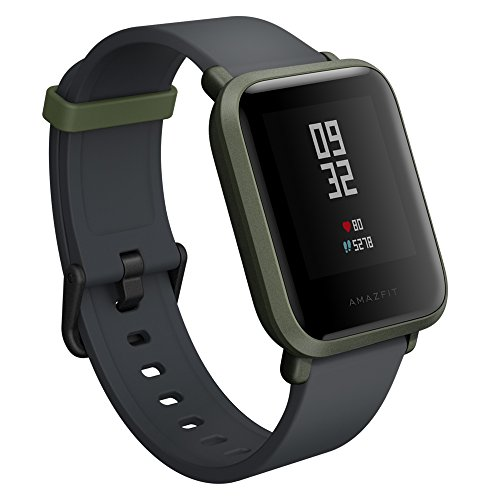 Amazfit Bip Smartwatch by Huami with All-day Heart Rate and Activity Tracking, Sleep Monitoring, GPS, Ultra-Long Battery Life, Bluetooth, US Service and Warranty (A1608 Green) by Amazfit (Image #1)