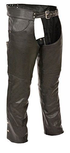 Price comparison product image Milwaukee Leather Leather Mens Chaps Mens Classic Leather Chaps With Jean Pockets Xl Style SH1101