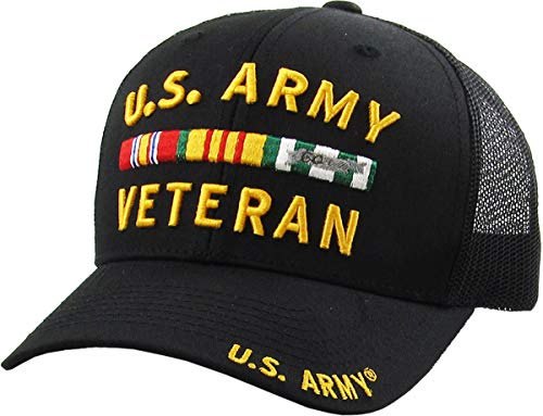KBARMY-016 BLK US Army Officially Licensed Baseball Cap Military Vintage Adjustable Hat ()