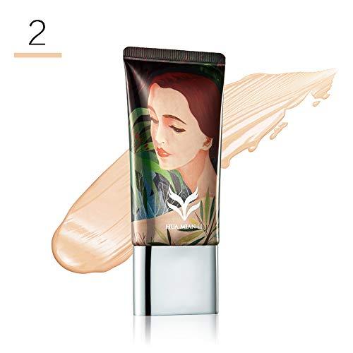 (Liquid Foundation gLoaSublim Liquid Base Moist Fawless Liquid Conceal Foundation Lady Makeup Beauty Tool - FD001-2#)