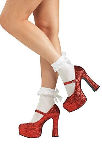 Rubies Costume Secret Wishes  Women's Wizard of Oz Ruby Slippers, Metallic Red, Medium ()