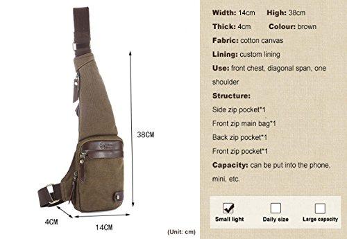de portátil diagonal bolsa de hombres equitación ocio cuero de bolsa metal Bicicleta los al corriendo baúl aire WENL Brown de de ocio desequilibrada decoración cruz libre mochila qxRt1XUw