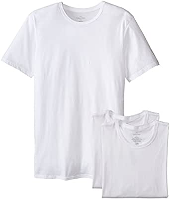 Calvin Klein Men's Undershirts Cotton Classics 3 Pack Slim Fit Crew Neck Tshirts, White, Small