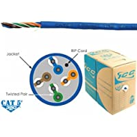 ICC ICC-ICCABR5EBL / CAT5e CMR PVC Cable - Blue / Conductor: Solid Bare Copper