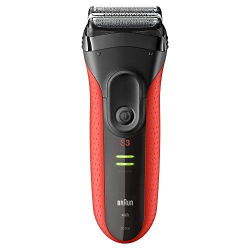 Braun Series 3 3030s elektrischer Rasierer (Rasierapparat) rot/schwarz
