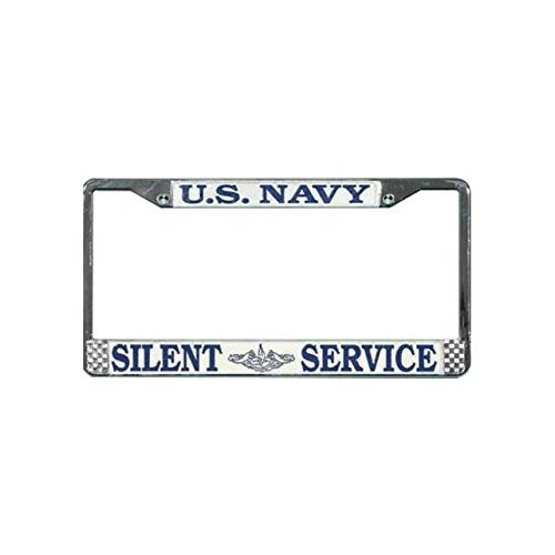(Honor Country US Navy Submarine Silent Service License Plate Frame)