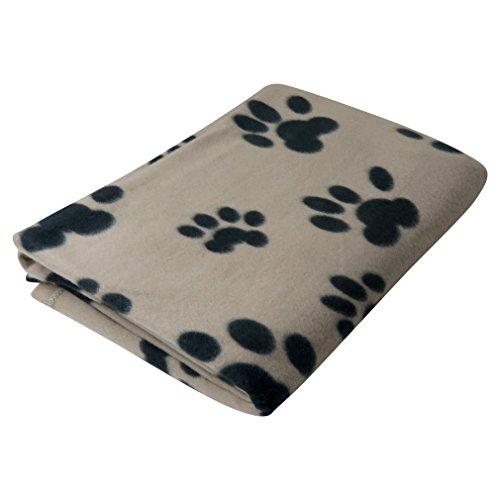 Evelots Pet/Personal Sofa Blanket-Cat/Dog-Pet Paw-Soft Fleece-60 Inch Long-Beige