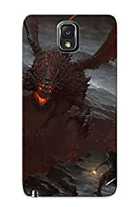 Galaxy Note 3 Hard Back With Bumper Silicone Gel Tpu Case Cover For Lover's Gift Deathwing - World Of Warcraft by icecream design