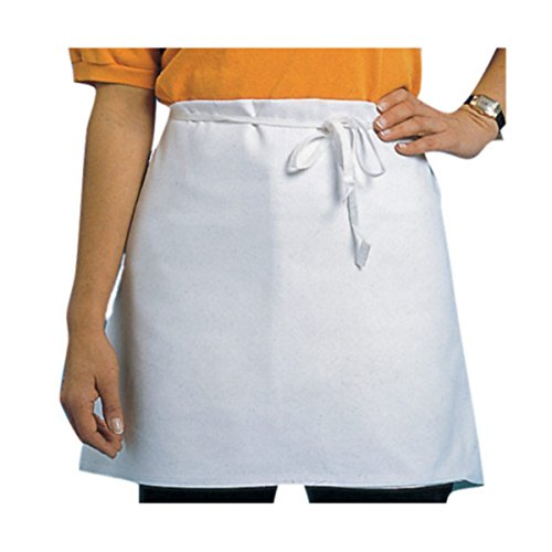 (Chef Revival 603FW Poly Cotton 4 Way Apron Waist Apron, 17 by 34-Inch, White)
