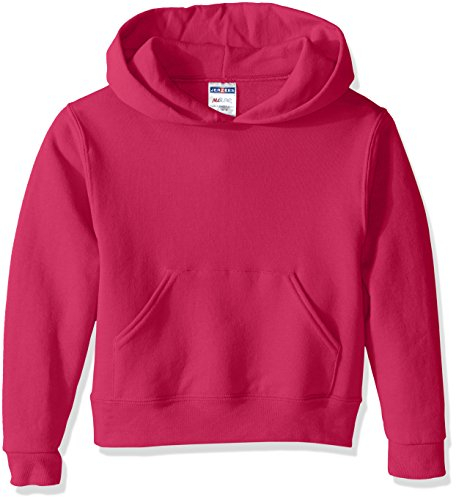 Jerzees Youth Pullover Hood, Cyber Pink, Medium