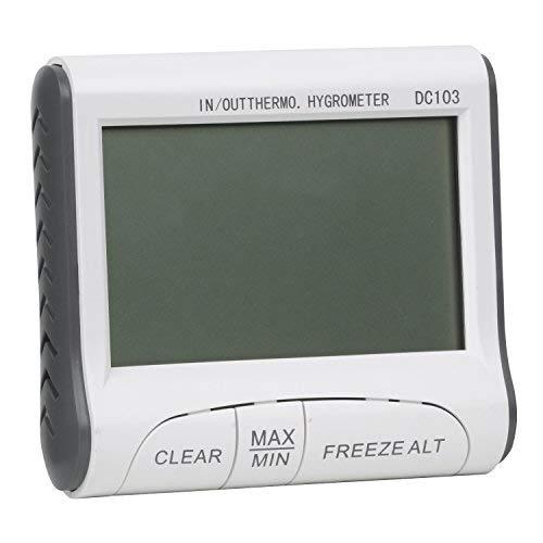 TRIXES Thermom/ètre et Hygrom/ètre LCD Num/érique Int/érieur Ext/érieur pour Serre//Habitation