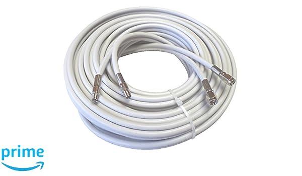 10 M alta calidad Low Loss Twin de cable coaxial de antena como Cable de extensión para existente en smartem gris claro, 2 x SMA de hembras - 2 x conectores ...