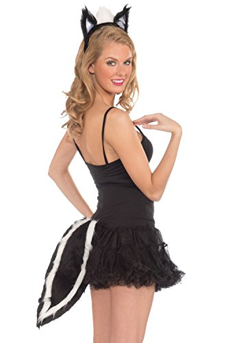 Forum Novelties Skunk Ears and Tail Set - Includes Headband with Attached Ears and Tail -