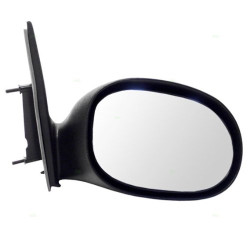 (00-05 Dodge Neon Manual Side View Door Mirror Black Assembly Passenger Right RH)