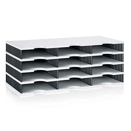 Ultimate Office TierDrop Literature Organizer/Forms Sorter, 12-Compartments with Optional Add-On Tiers for Easy Expansion (Stand Literature Sorter)