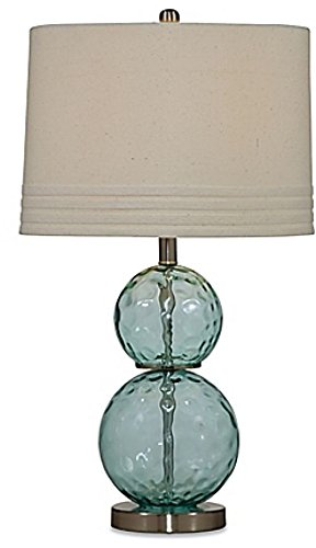 Bassett Mirror Company Barika Table Lamp in Mist with Fabric Shade ;from#alicelittleshoponline by Bromomiteri