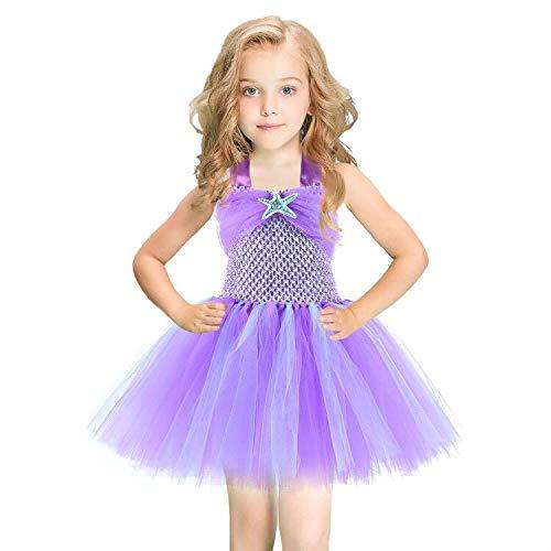 Zorxu Disfraz de Sirena con tutú para niñas, Vestido de Sirena ...