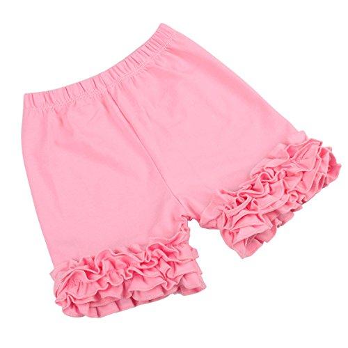 Slowera Baby Girls Cotton Ruffles Shorts Pants (Pink, 2-3 Years) ()