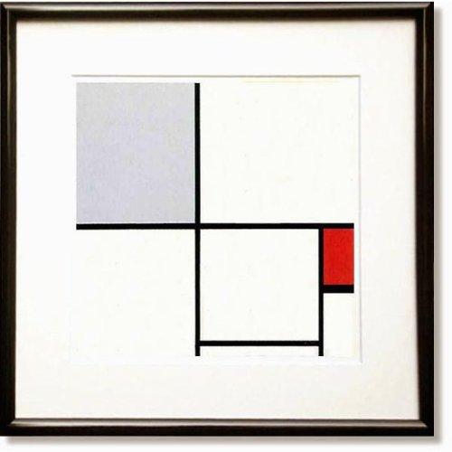 モンドリアン赤と灰のコンポジション(絵画版画) B008J9XW9U