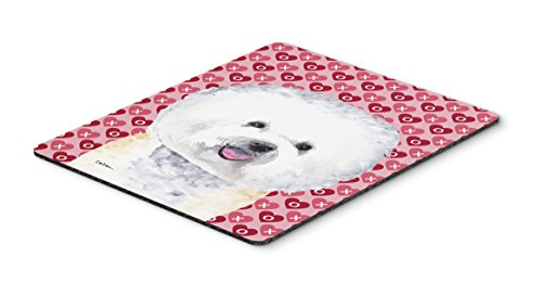Caroline's Treasures Bichon Frise Hearts Love & Valentine's Day Mouse Pad/Hot Pad/Trivet (SC9278MP)