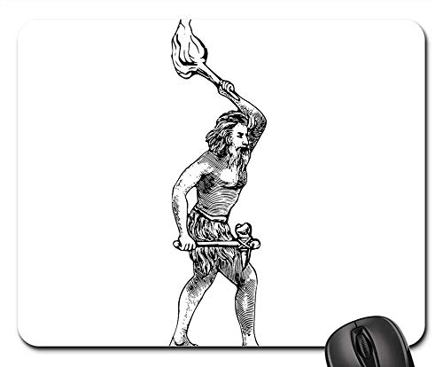Mouse Pads - Caveman Axe History Torch