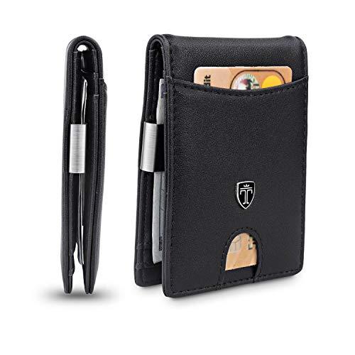TRAVANDO Slim Wallet with Money Clip Rio RFID Blocking Wallet – Credit Card Holder – Minimalist Bifold Wallet for Men…