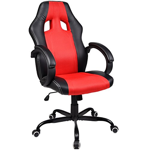 41s9AvNP%2BiL - ELECWISH-PU-Leather-Mesh-Gaming-Chair-Racing-Style-High-Back-Swivel-Computer-Office-Chair-Red