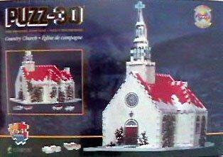 最低価格の Country Church, [並行輸入品] 254 Piece Piece 3D Jigsaw Puzzle B006GY0NGK Made by Wrebbit Puzz-3D by Wrebbit [並行輸入品] B006GY0NGK, 東神楽町:accff27b --- quiltersinfo.yarnslave.com