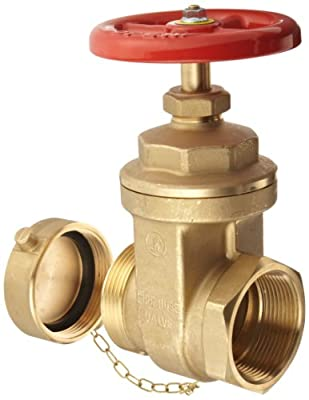 "Dixon WDGV251F Forged Brass Non-rising Stem Wedge Disc Gate Valves, 2-1/2"" NPT Female x NST Male from Dixon Valve & Coupling"