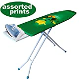 Ybm Home & Kitchen Deluxe Adjustable Height 4-leg Heavy Duty Ironing Board & Assorted Padded Cover with Steel Mesh Top 2313 1548-12