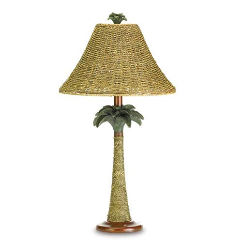 Koehler 37989 25.5 Inch Palm Tree Rattan Table Lamp -