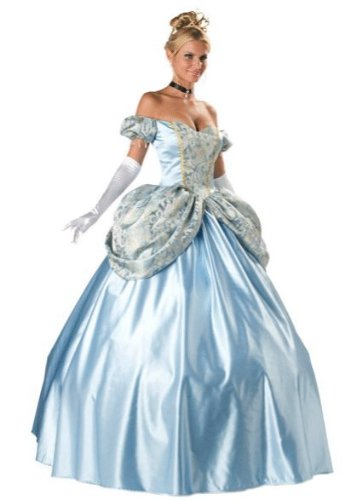 InCharacter Costumes, LLC Women's Enchanting Princess Costume, Blue, Small (Couples Sexy Costume)