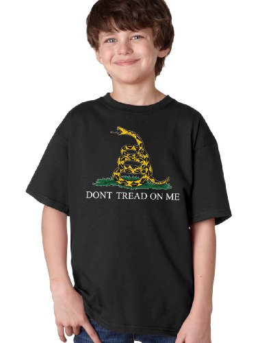 JTshirt.com-20092-DON\'T TREAD ON ME Youth T-shirt / Liberty Libertarian Conservative Gadsden Tea Party Flag-B00A4MR0MU-T Shirt Design