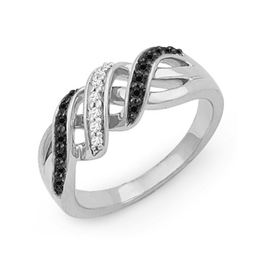 sterling-silver-black-and-white-round-diamond-twisted-fashion-ring-1-5-cttw