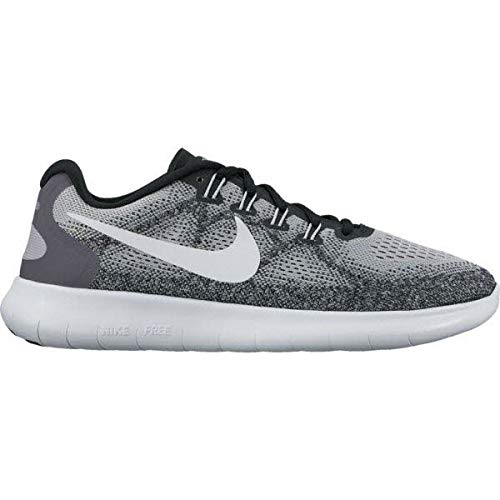 (Nike Womens Free RN 2017 Wolf Grey - Off White, 11.5 )