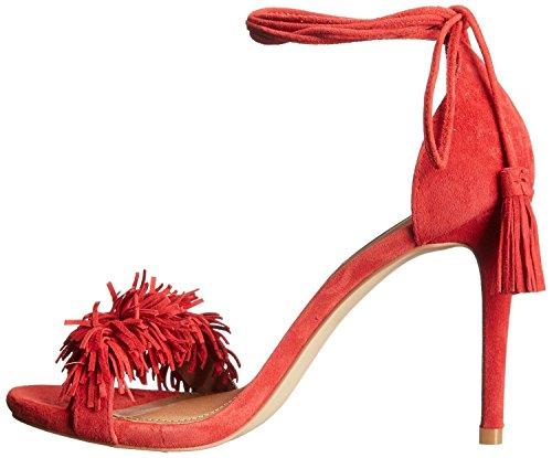 AIWEIYi Womens Tassel Decoration High Heels Sandals Lace Up Pumps Fashion Summer Dress Shoes Red hLOQlJ