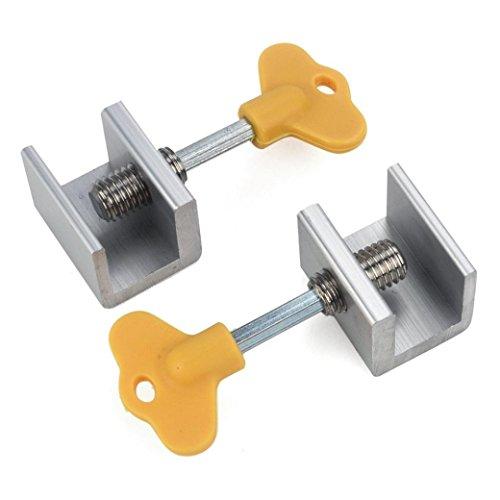 SUJING 4 Pcs Sliding Window Lock, Adjustable Sliding Window Locks Door Frame Security Locks With Key,Kids Child Safety Doors Lock by SUJING
